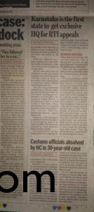 Bangalore Mirror - Jan 9,2017
