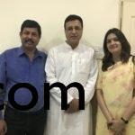 With Mr R Sujrewala & Ms Priyanka Chaturvedi
